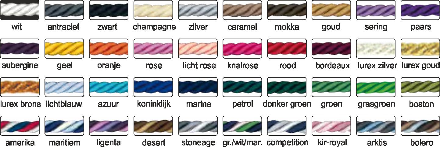 Koorden kleuren