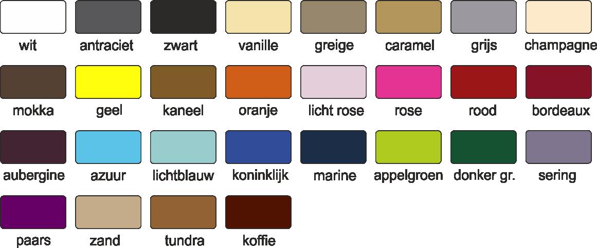 Schabrakken grondkleuren